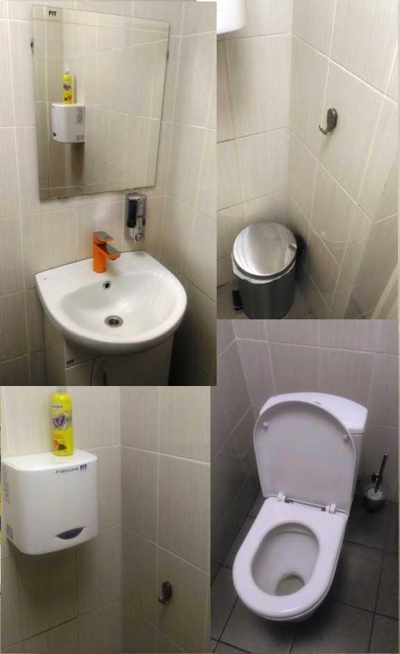 В туалете на сервисе чисто