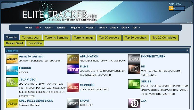 Téléchargement de Torrent - Le site de Torrent Elite Tracker