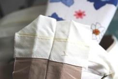 Smart triks - brett hjørnet 45 grader for å unngå klumper oppe i linningen