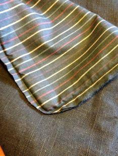 Vrangsy et bakstykke som også danner baksiden av mønsterrapporten