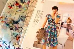 Mønster til drømme sommerkjolen ble funnet i Burda 5/2014 model 104. Stoffet er kjøpt på Stof og Stil.