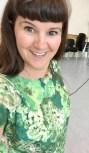 Så langt kom jeg på kurset som jeg holdt på Andenes - kjolen er klippet og sydd sammen. Det er vanskelig å skjule hvor tilfreds jeg er.