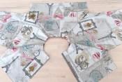 Om du er nybegynner eller ei så går det fort å sy et plagg med raglandermer - her ser du ermene sydd sammen med forstykkene og bakstykket