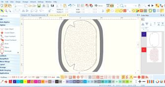 Mønster er tilpasset til Midirammen som måler 165x265mm