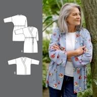 Mønster fra Stoff og Stil - du kan velge mellom kort eller lang modell