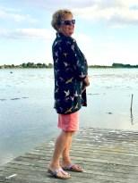 """""""Strike a pose"""" - mamma ser helt proff ut der hun poserer med sin nysydde kimono"""