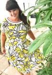 Se min kjole - splittene i sidesømmen og måten falden er sydd på gir kjolen et snev av 50-tallets mote