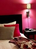 Kunne nesten ikke tro det da jeg så mitt hotelrom - perfekt fargematch med klærne jeg skulle ha på...!!