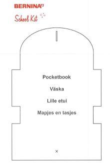 Mønsteret til etuiet er fra Bernina og har blitt brukt som sykit for skoleelever