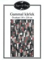 """Mønsteret for quilten er """"Gammal kärlek"""" fra Tyger och Ting"""