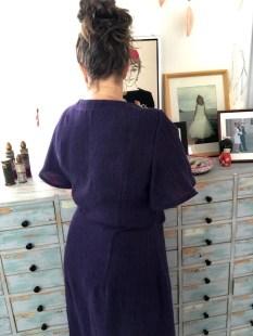 Ryggen på min kjole er ikke helt ettersittende, men jeg synes den er OK. Om du vil ha en helt ettersittende så er dette mulig ved å velge det på mønsteret