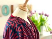 Kantebåndet og kjolens omslag sys sammen på en genial enkel måte - se link til videotutorial nederst i blogginnlegget