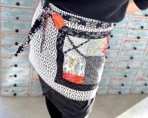 Som navnet tilsier - wrap apron eller omslagsforkledet holdes sammen av knytebånd...