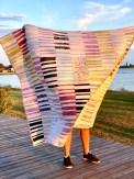 Ikke lett å ta bilder av en stor quilt i vinden...