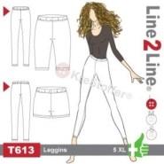 Og dette leggingsmønster Line2Line T613+ har vært utgangspunktet for underdelen
