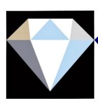 Om du ikke kan få nok av krystaller så er denne fine Diamanten av MJ Kinman til download på We All Sew. Se link nederst i blogginnlegget. OBS til bruks sammen med Freezer Paper ikke broderi