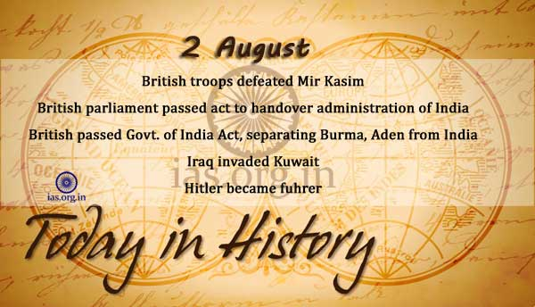 today in history 2 august