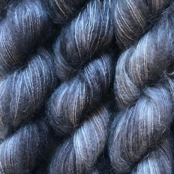 Sysleriget Silk Mohair Charcoal