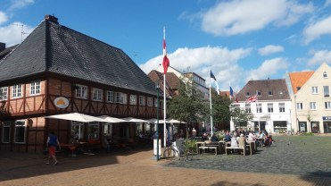 Rendsburg city center. You can find everything you need here except a boat/maritime shop.