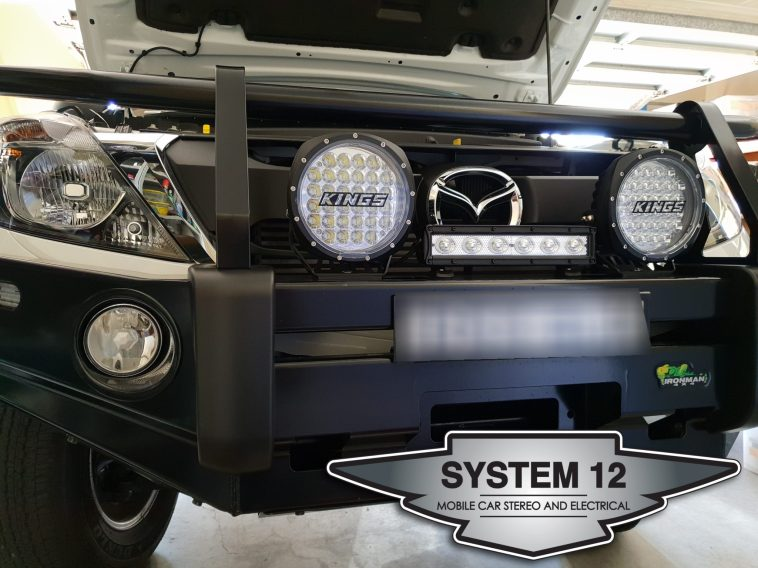 Mazda BT50 with Kings 7 inch spotlights