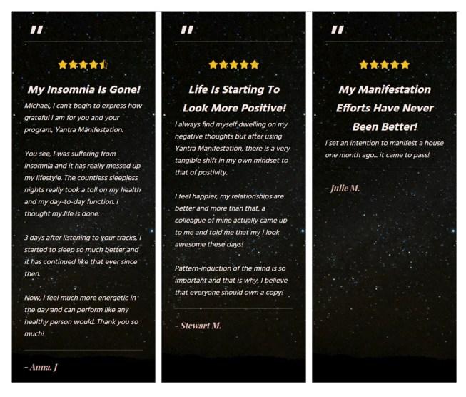 Yantra Manifestation Customer Review