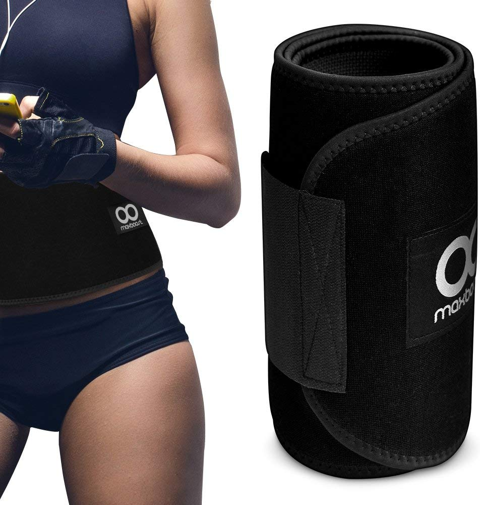 Maxboost Waist Trimmer Premium Neoprene Ab Belt for Men & Women