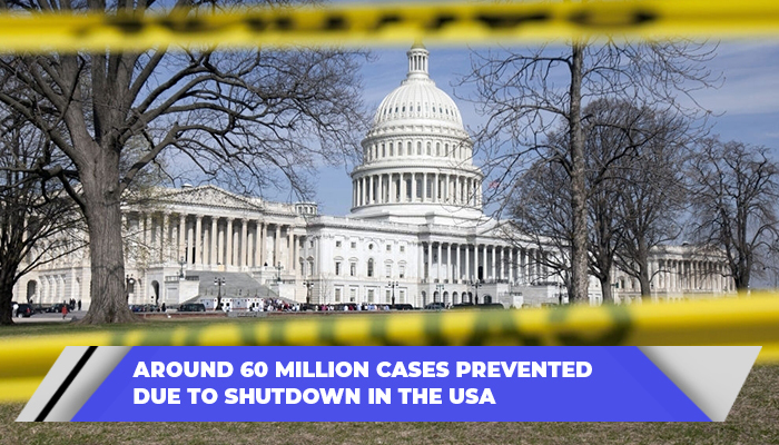 Around 60 Million Cases Prevented Due To Shutdown In The USA
