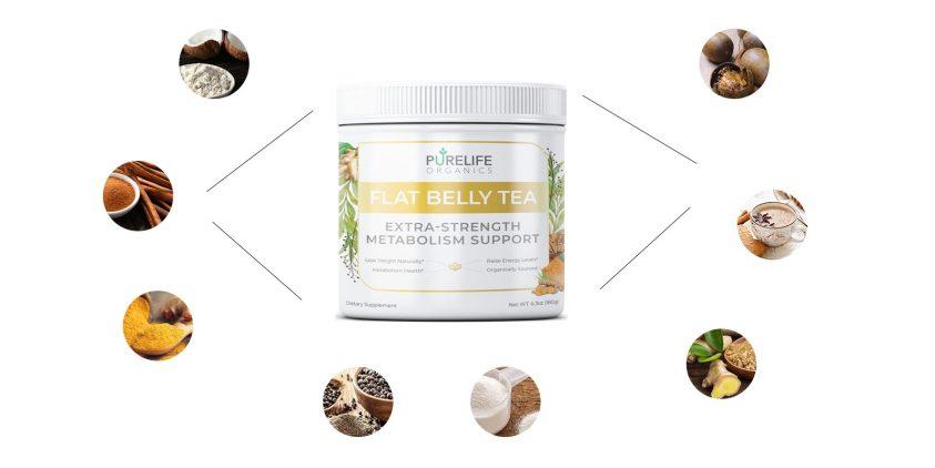 purelife organics Flat Belly Tea ingredients