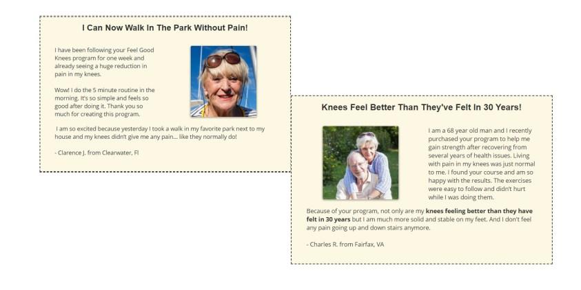 Feel Good Knees customer review