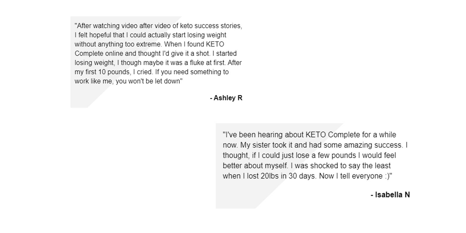 Keto complete customer reviews