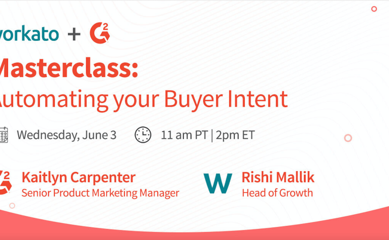 Virtual G2 Masterclass: Automating Your Buyer Intent-image