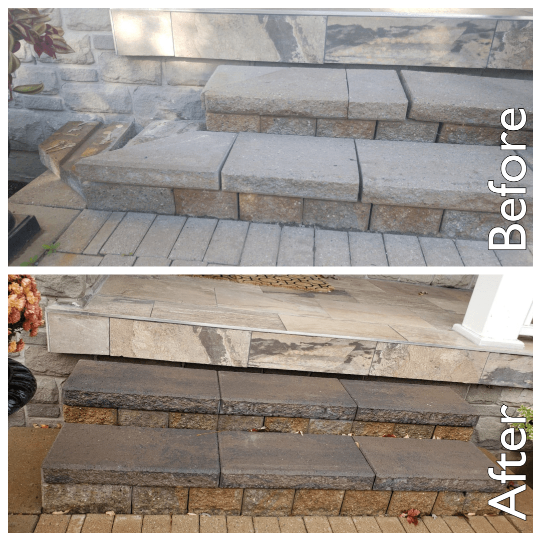 Re-laid Concrete Steps