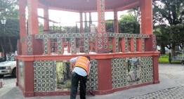 Se realizan trabajos de limpieza en el Parque Zaragoza