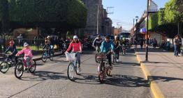 """Con un paseo ciclista, celebran en Acámbaro el """"Día de la Familia"""""""