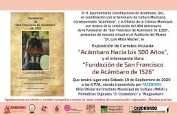 Presentan libro por los 494 años de la fundación de Acámbaro