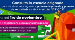 La SEG asegura lugares  en instituciones públicas de educación básica