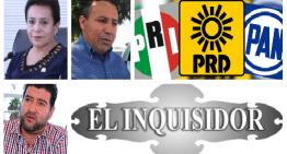 """El Inquisidor: Expulsan a Lupita Salas de la bancada de Morena en el Congreso.  En enero, """"Ales"""" Tirado decidiría el futuro político.  En el 'juego político', los aspirantes a can-dedotes Independientes.  PAN, PRI y PRD confirman una alianza nacional contra Morena."""