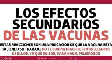 Efectos secundarios de las vacunas.