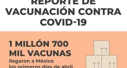 Llegan más vacunas para los mexicanos