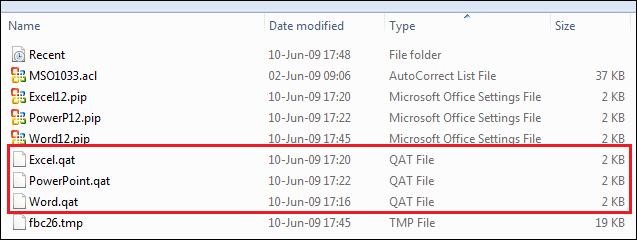QAT files