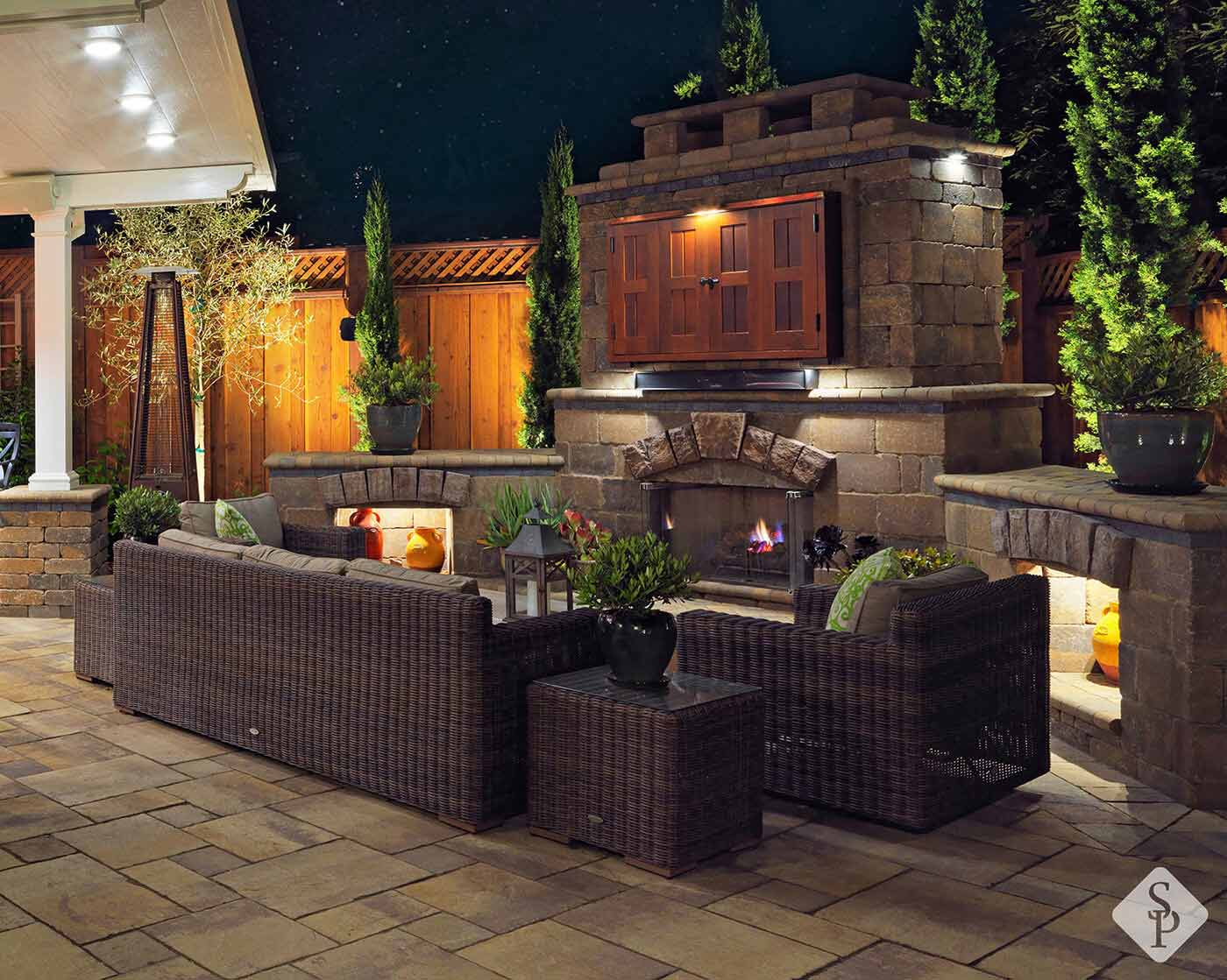 outdoor fireplaces a perfect winter add on