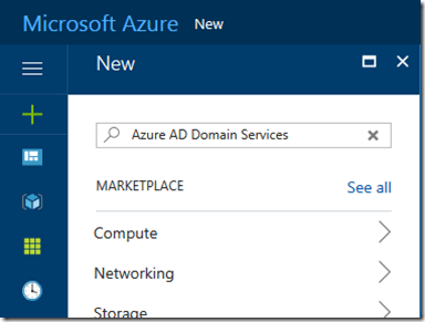 AzureAD Domain Services admin UX in the new Azure Portal is
