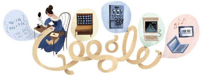 The Google doodle dedicated to Ada Lovelace's 197th birthday. Credits: Libertad Digital