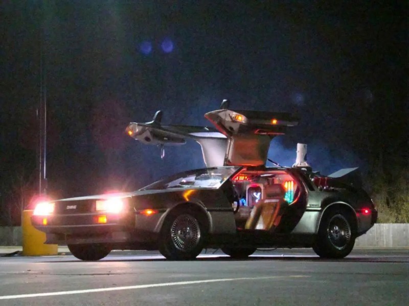 """The DeLorean from """"Back to the Future"""", one of the most famous flying cars. Credits: Film at the cinema"""