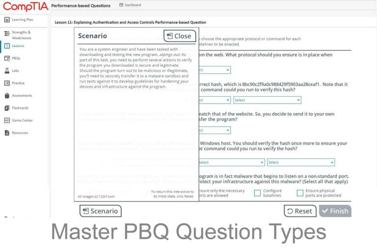 CompTIA CertMaster Learn Part 02 of Systems Master Success Kit Master CompTIA PBQ Question Types