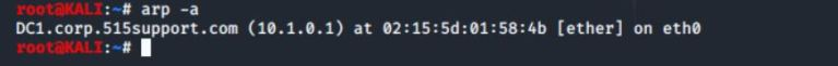 arp -a to check the ARP cache to display other hosts local to this subnet.