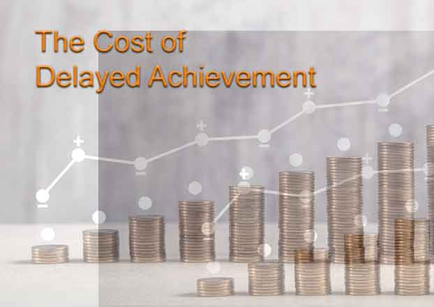 The Cost of Delayed Achievement
