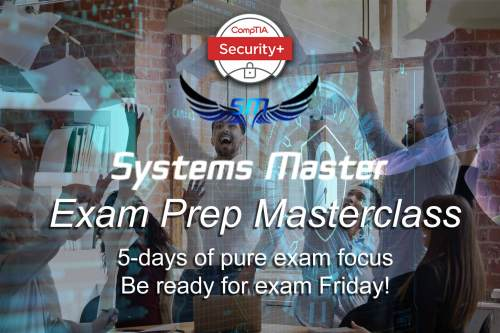 5 days of pure exam focus to pass Security+ SY0-501 or CompTIA exam SY0-601