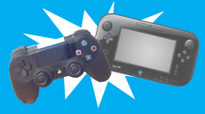 PS4 and Wii U controllers