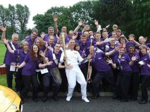 olympics torch relay (Scout & Guide Bands of Leicestershire)